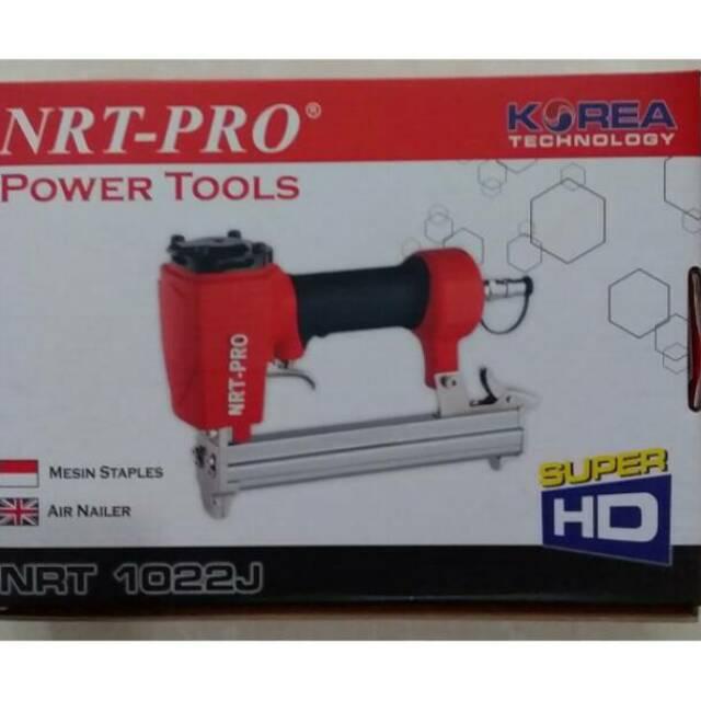 Mesin Paku Tembak Staples NRT PRO 1022J HD AIR Nailer Stapler Gun Paku Tembak U Udara Kompresor | Shopee Indonesia