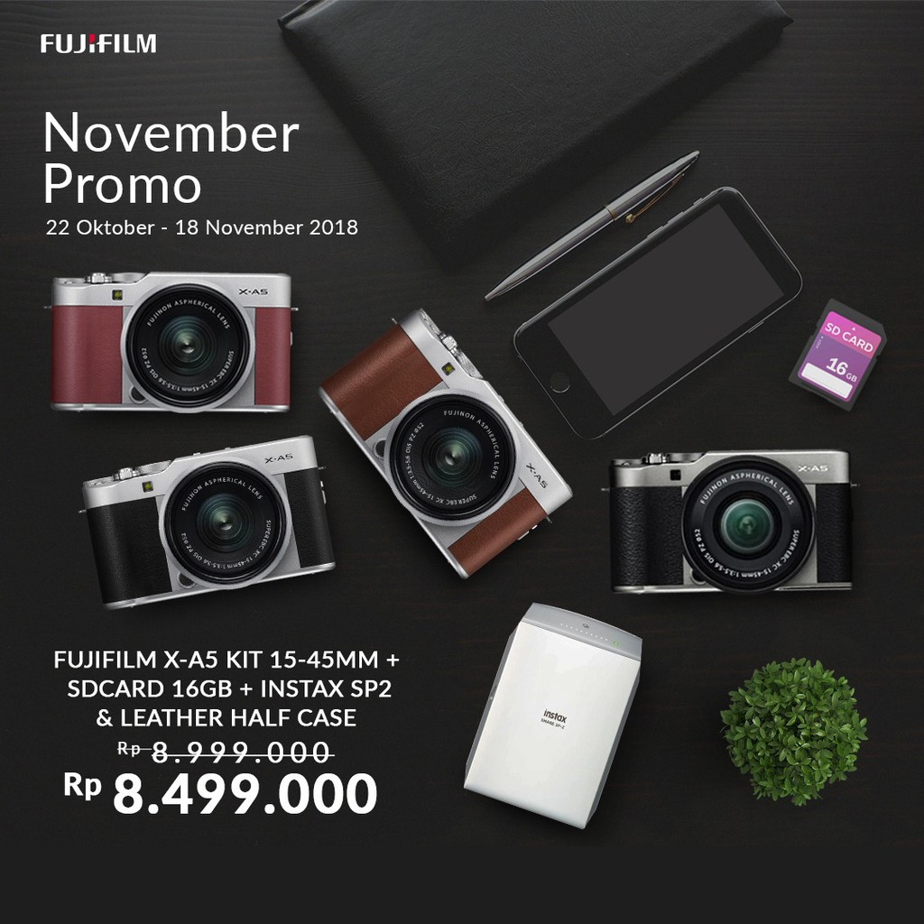 Kamera Mirrorless Fujifilm X A3 Xa3 Kit 16 50 Mm Shopee Indonesia Nikon 1 J5 10 30mm Paket