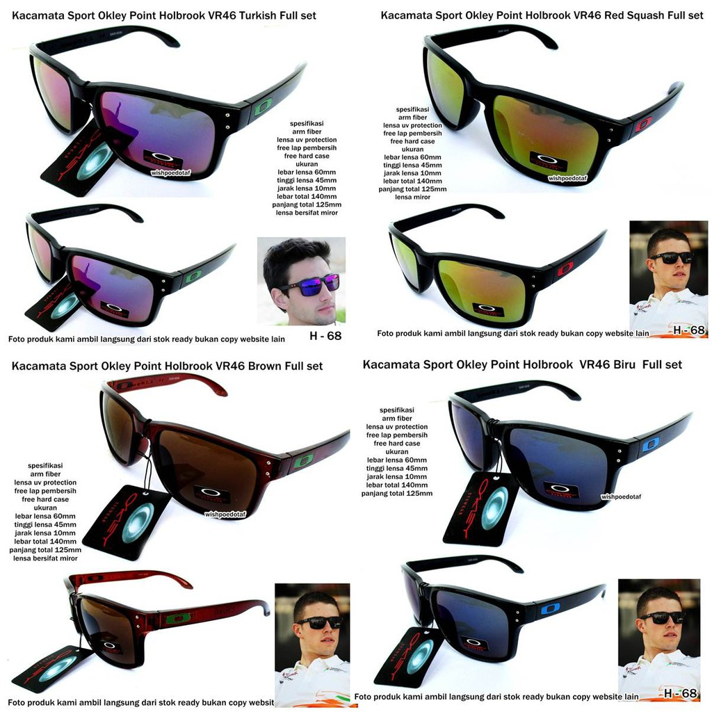 kacamata sunglasses pria OKL crosshair blue white fullset  07c00135c1