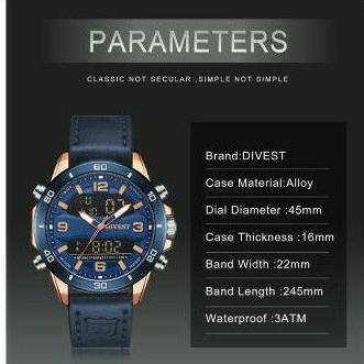 Divest jam tangan pria impor