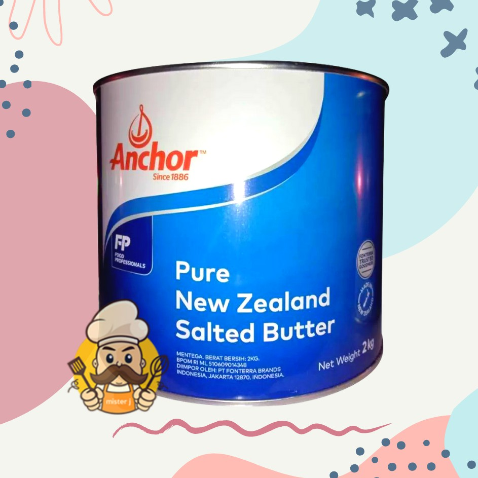 ANCHOR / ANCHOR SALTED  2KG / ANCHOR BUTTER / BUTTER ANCHOR / MENTEGA ANCHOR / BUTTER ANCHOR SALTE