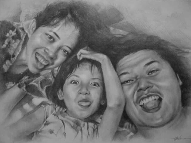Kado Custom Sketsa Wajah Realis Detail A3 Karikatur Hitam Putih Shopee Indonesia