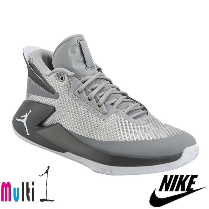 NIKE Men Basketball Jordan Fly Lockdown Sepatu Basket Grey AJ9499-004  9b73630948