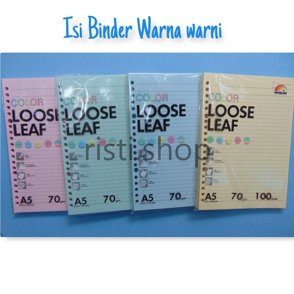Kertas Isi Binder Warna A520ring Shopee Indonesia Loose Leaf B5 50lbr