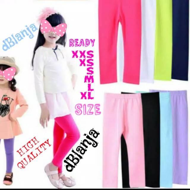 Celana Legging Polos Anak Sd Smp Sma Katun Stretch High Quality Size S M L Xl Murah Harga Grosir Shopee Indonesia