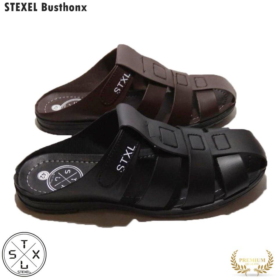 Stexel Bustong Sandal Pria Casual Model Sepatu Sandal Kronjo