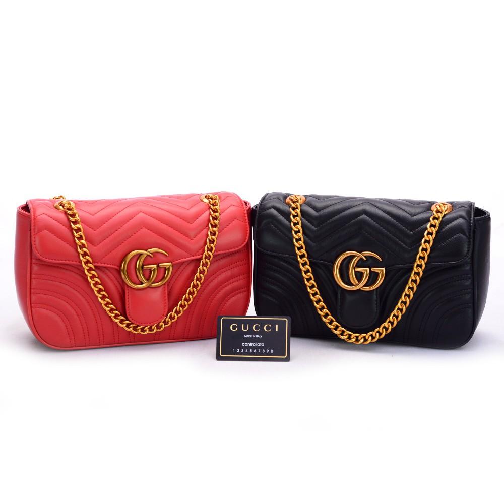 906b4501533d Ori Leather Jual Tas Gucci Gg Marmont Velvet Shoulder Super Mirror Qu  Berkualitas,.. | Shopee Indonesia
