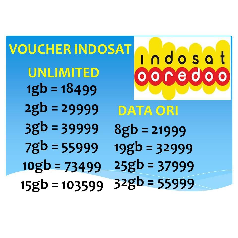 Indosat Data Reguler 1gb 2gb 4gb 5gb Shopee Indonesia Voucher Mini