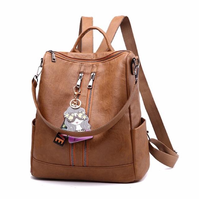 996 Ransel Wanita Import Fashion Backpack Cewek Ransel 3in1 korea laptop  kulit TAS KULIAH MURAH  cb025537f8