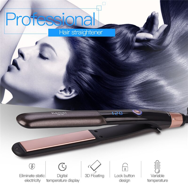 Import Professional Hair Straightener Flat Iron Ceramic Heating Plate Straight Hair Styling Tools Shopee Indonesia