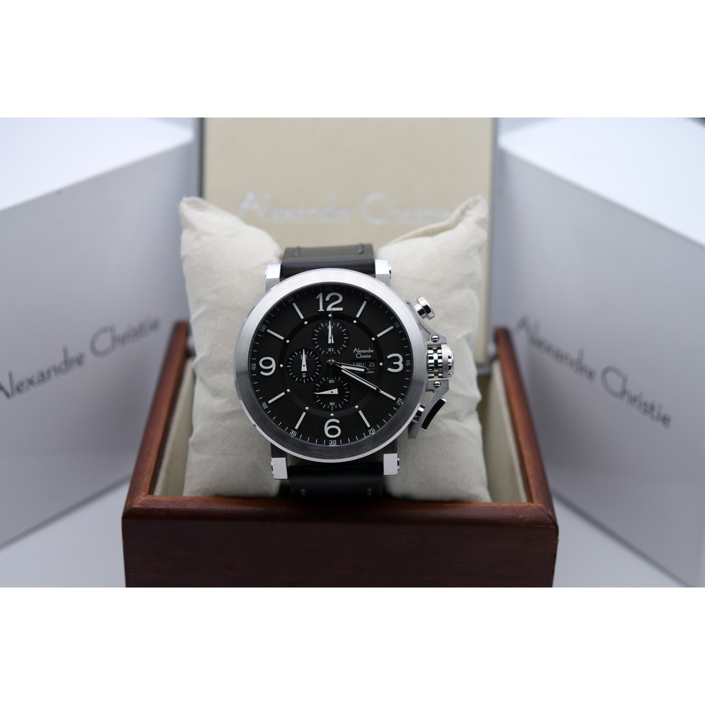 Alexandre Christie Ac 6270 Rose Gold Black Leather Brown For Men Expedition E6372 Original Shopee Indonesia