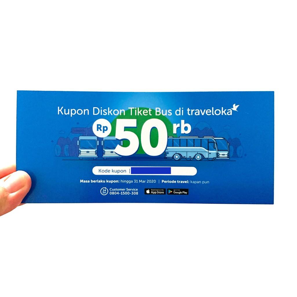 Voucher Bus Traveloka Voucher Potongan 50rb Voucher Diskon Traveloka Voucher Tiket 50000 Shopee Indonesia
