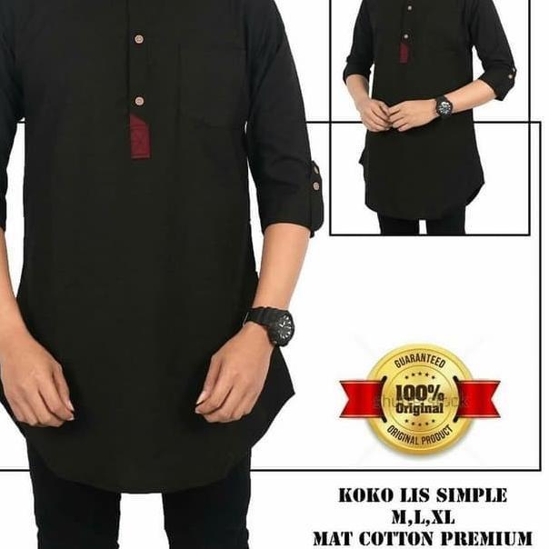 *((TOP Seller)) Baju Koko Taqwa Visan Putih Polos Muslim Pria Dewasa Lengan Panjang Ba RN608 Koko Qu
