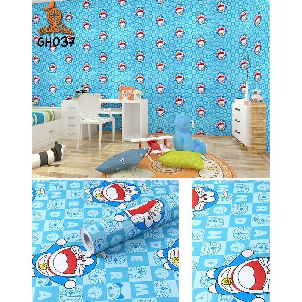 [COD] HOT PROMO Wallpaper Dinding Sticker Dinding Wallpaper Stiker Sticker 45CM X 10M DORAEMON