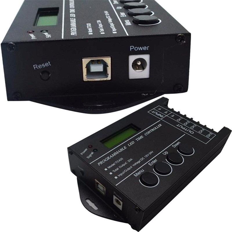 Sun11 Lampu LED TC420 Time Programmable RGB DC12V-24V 5channel   Shopee Indonesia