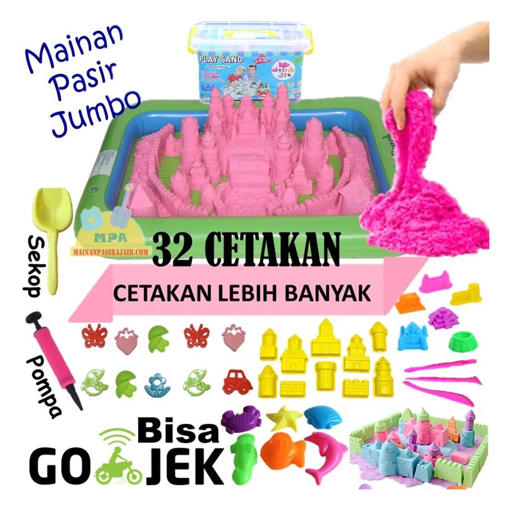 Mainan Pasir Ajaib Anak Model Play MAGIC SAND 1KG Cetakan Lebih Banyak  2c2bcbc837