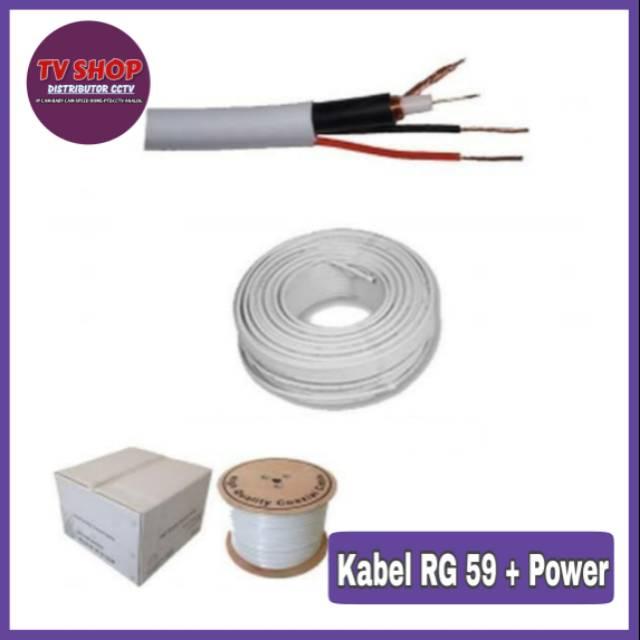 Kabel Coaxial Rg 59 + Power / Kabel CCTV 1 Roll
