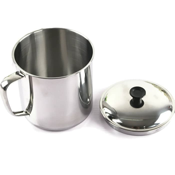 12 x Stainless Steel Camping Mug with Carabina Handle Hiking Cup Soup Coffee Tea