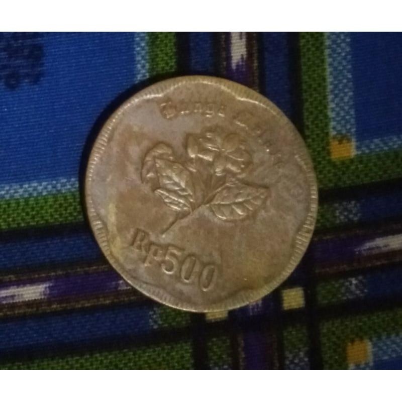 Uang koin 500 melati th 1992