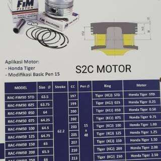 Piston Kit Fim90 Diameter 65 5 66 66 5 67 67 5 68 Pin 15 Custome Dome Fim90 Modifikasi Shopee Indonesia