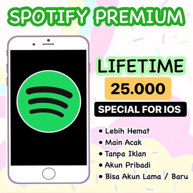 Spotify Premium Selamanya Ios Shopee Indonesia