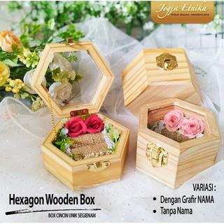 Kotak Cincin Unik Segi 6 / Ring box / Box Cincin / Mahar ...