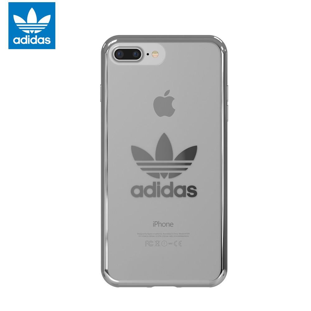 Case iPhone 7 Plus 8 Plus Adidas Originals Trefoil Clear Soft Case Silver