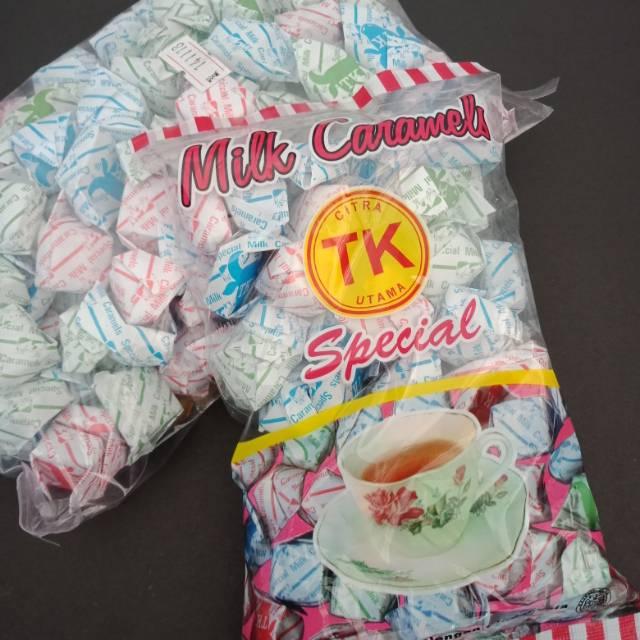 Permen susu karamel TK 200gr pangalengan
