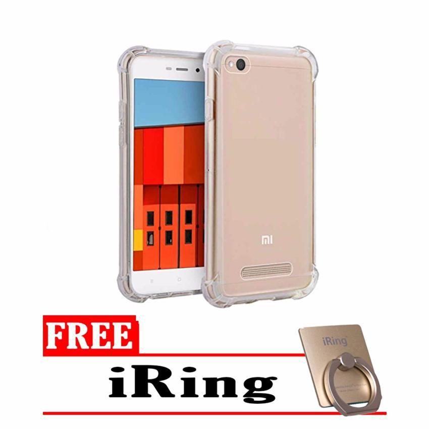 Softcase Anti Shock Anti Crack For Xiaomi Redmi 4 Aircase - Putih Transparant + Free Holder Gurita   Shopee Indonesia