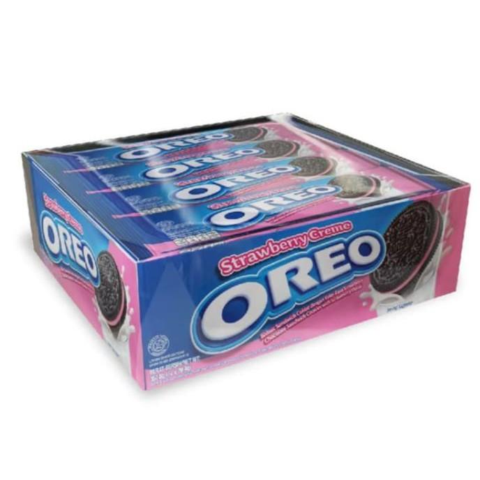 Biskuitkemasan:  Biskuit Oreo Vanila/ Coklat/ Ice Cream/ Strawberry Kemasan