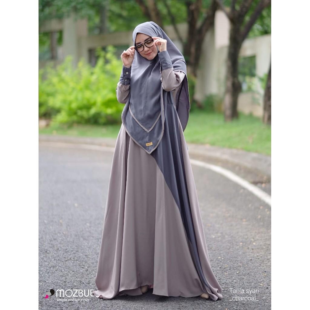 Baju Gamis Tania Syari By Mozbue Pakaian Wanita Muslim Syar I Gamis Wanita Model Terbaru Shopee Indonesia