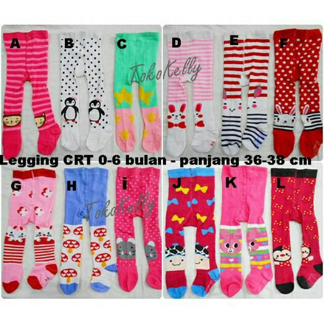 LEGGING CANTIK CRT # LEGGING BAYI SIZE 0-6 BULAN # MOTIF GIRL | Shopee Indonesia