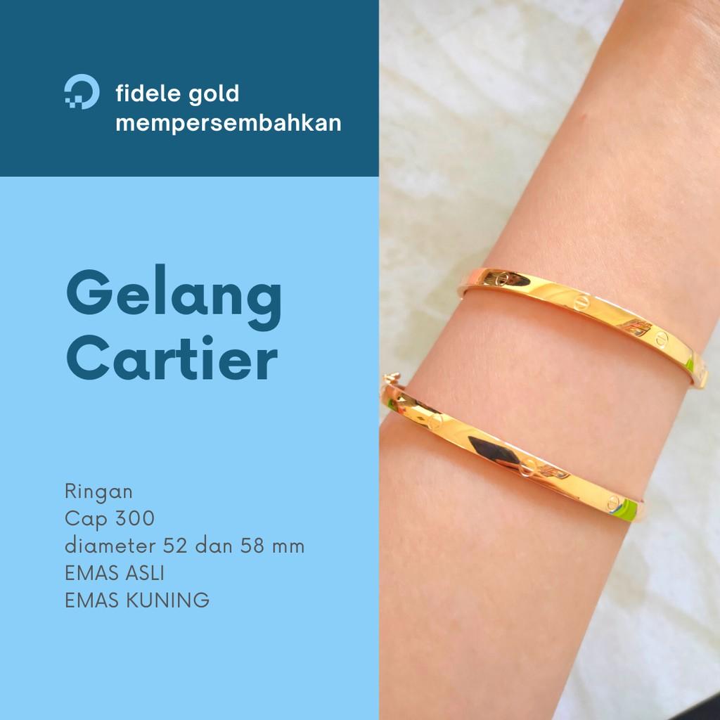 Gelang Cartier emas asli 3 gram an UBS