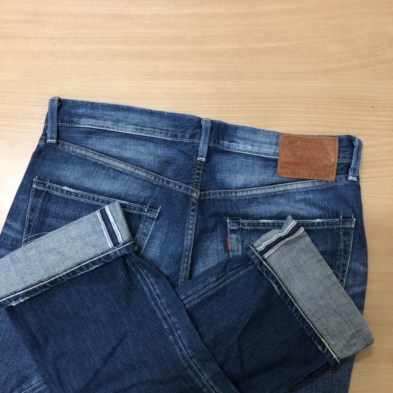 celana jeans second LEVIS 502 selvedge accent size 34
