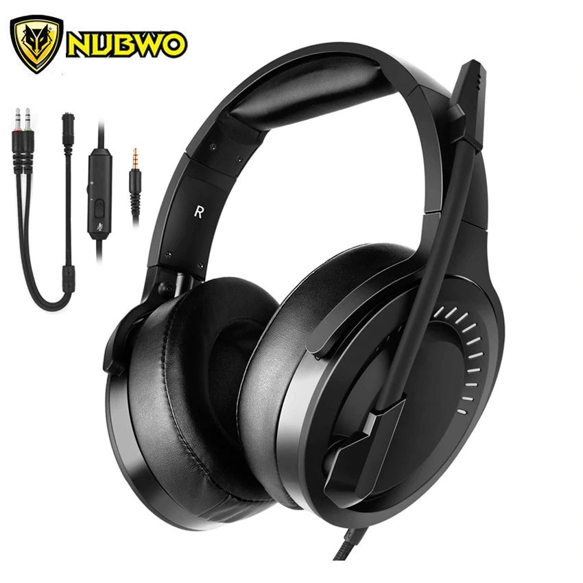 Bluetooth Headset Nubwo N15 Ps4 Headset Casque Pc Stereo Gaming Headphones With Microphone Soft Shopee Indonesia