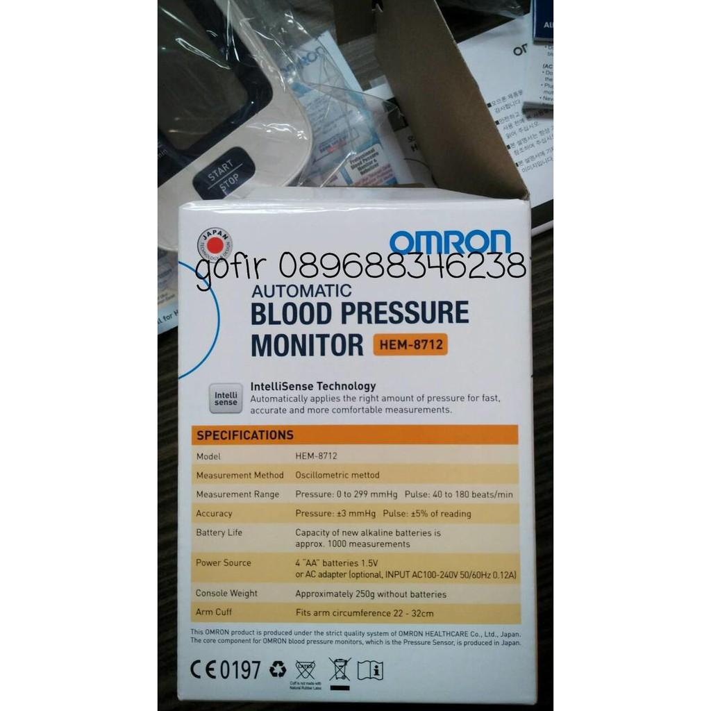Omron Tensimeter Digital Hem 8712 Blood Pressure Monitor Putih Garansi Limited Tensi Darah