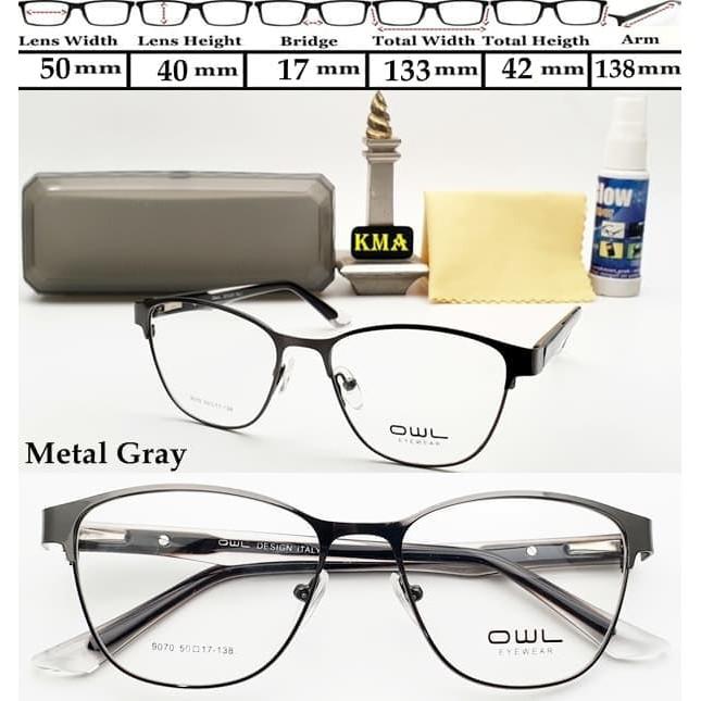 KCF.46 kacamata kotak frame minus OWL frame kacamata minus super ... 9eb1257461