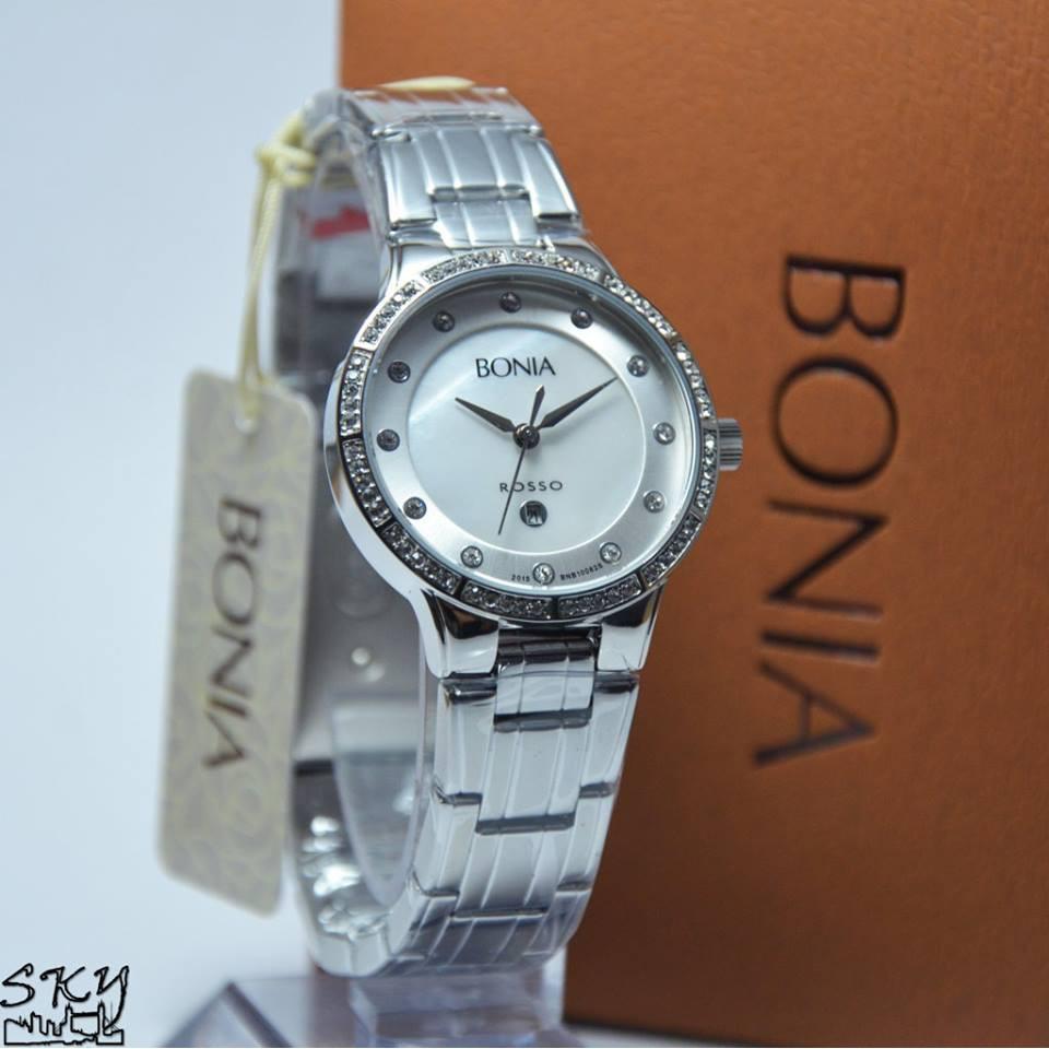 Jam Tangan Wanita Bonia Bnb10305 2335s Rosso Original Shopee Indonesia B10067 2115 Silver Gold