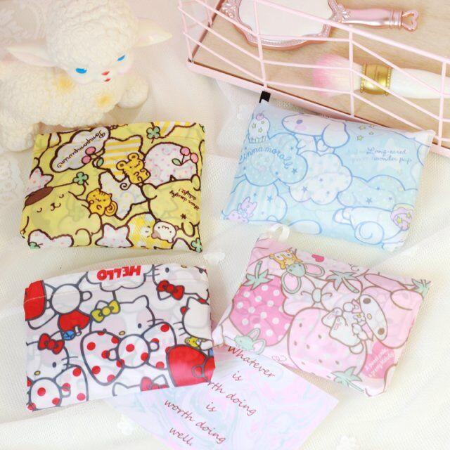 Foldable Waterproof Cartoon Animal Shopping Storage Bag Tote Handbag Dog Cat