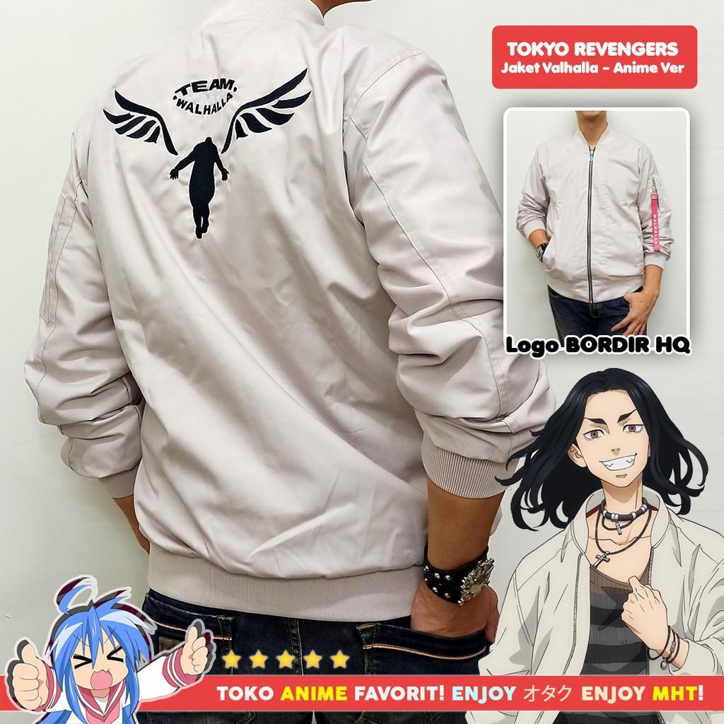 Jaket Bomber Anime Tokyo Revengers Valhalla Keisuke Baji Kazutora Hanemiya Anime Version Cream
