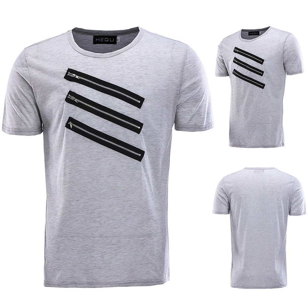 Fashion Men Top Slim Fit Casual T Shirts Striped Summer Short Sleeve Ramayana Ar89 Tshirt Hitam M Tops Shopee Indonesia