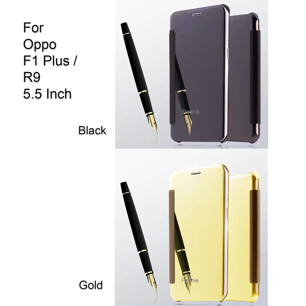 Peonia Mirror Flip Cover Case For Oppo F1 Plus R9 55 Inch Electroplating Transparent Ultrathin Samsung J7 Pro 2017 Hitam Sama Ukuran Shopee Indonesia