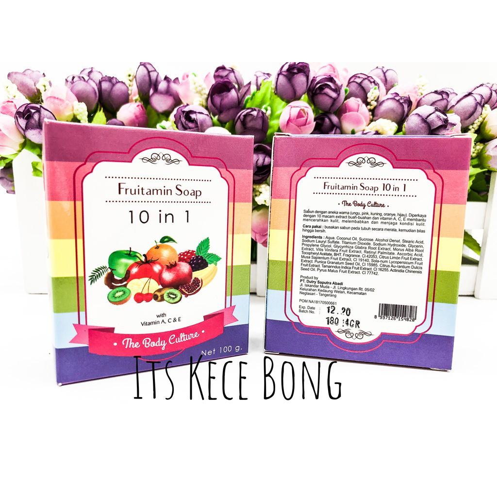 Body Culture Soap Fruitamin 10in1 Bpom The 10 In 1 Frutamin Sabun Shopee Indonesia