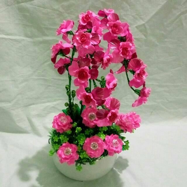 Bunga Anggrek Pink Akrilik Shopee Indonesia