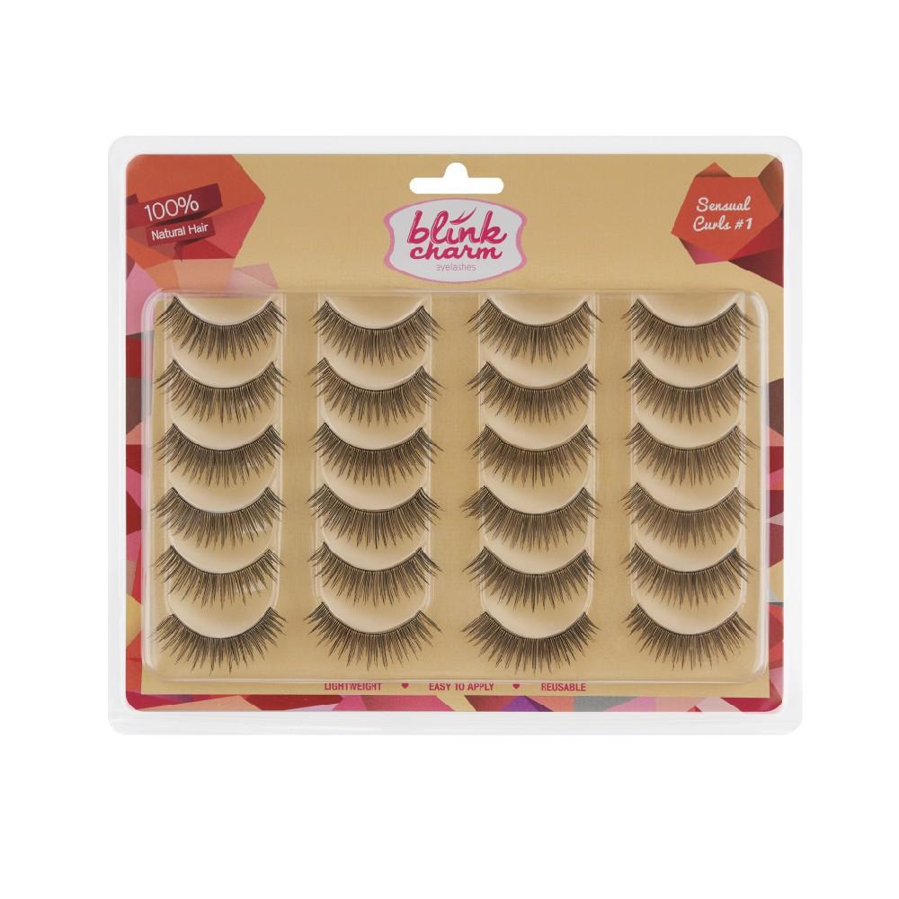 Blink Charm Eyelashes Sensual Curls #1 – 12 Pair