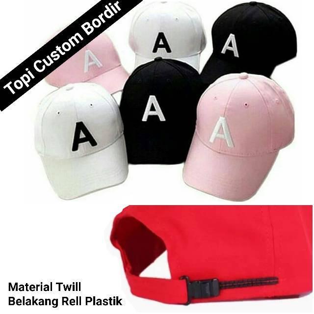 Topi Baseball dengan Bordir Huruf Gaya Korea  1f222d4f0c