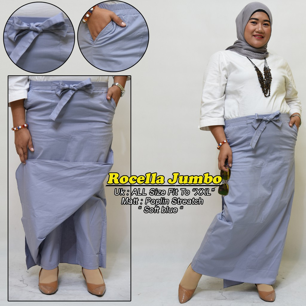 Beli JUMBO Rocella ( rok celana ) Bahan katun stret ori by tokodenay Harga  Lebih Murah Bersama Teman  8f7e16b6b4