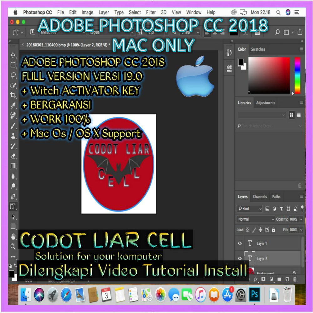 Jual MAC OS Adobe Photoshop Cc 2018 FOR Mac Os Diskon
