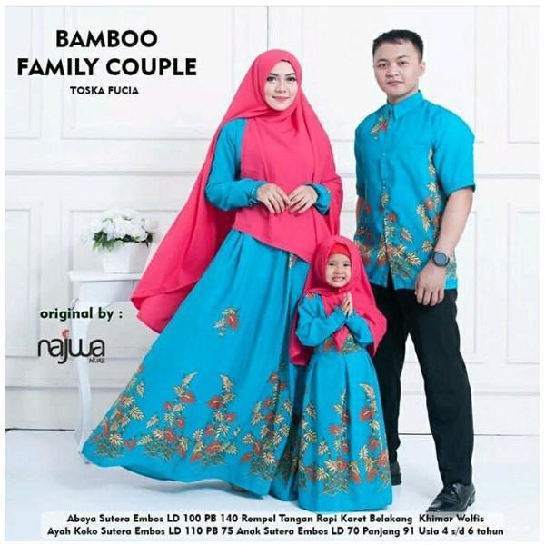 baju muslim couple . gamis couple family . seragam keluarga . sarimbit  batik family . bambo family  d361b93c32