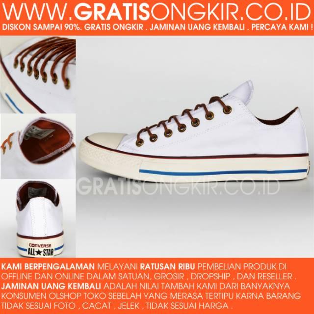 Sepatu Sneakers High CONVERSE PRO LEATHER 76 MID White Original ... c3b043a230